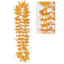 Orange Tinsel Lei 40in
