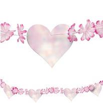 Flower Petal & Heart Garland 15ft