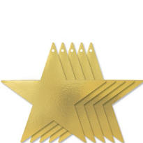 Gold Star Cutouts 12in 5ct