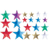Multi Color Star Cutouts Assortment 20ct