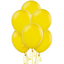Sunburst Yellow Latex Balloons 12in 72ct