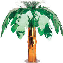 Metallic Palm Tree Centerpiece 20in