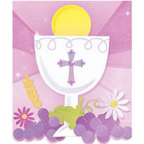 Pink First Communion Invitations and Thank You Notes Combo Pack 20ct