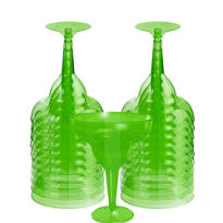 Transparent Green Plastic Margarita Glasses 8oz 20ct