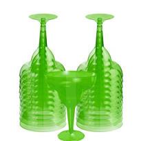 Transparent Kiwi Plastic Margarita Glasses 20ct