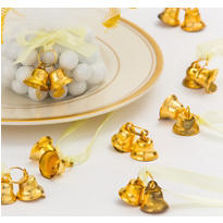 Gold Double Bell Wedding Favor Charms