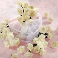 Ivory Ribbon Rose