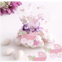 Pink Mini Baby Shower Favor Bag Kit 24ct