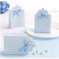 Blue Bottle Baby Shower Favor Box Kit 24ct