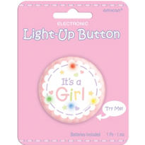 It's a Girl Light Up Button