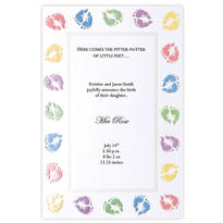 Baby Feet Printable Baby Shower Invitations 12ct