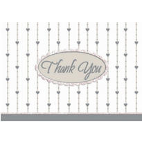 Formal Affair Glitter Thank You Notes 8ct