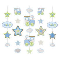 Carter's Baby Boy Hanging Glitter Decoration 36in 5ct