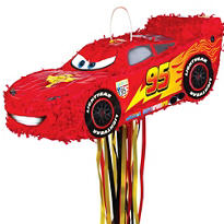 Pull String Lightning McQueen Pinata