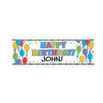 Personalized Happy Birthday Giant Sign 78in x 48in