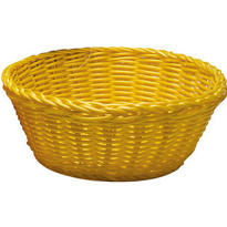 Yellow Round Serving Basket