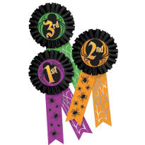 Halloween Award Ribbon Multi Pack 3ct