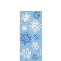 Snowflake Small Party Bags 9 1/2in x 4in 20ct