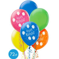 Happy Birthday Latex Balloons 12in 72ct