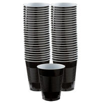 BOGO Black Plastic Cups 16oz 50ct
