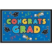 Multicolor Vinyl Graduation Party Sign 78in