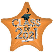 Orange Class of 2015 Star Graduation Balloon