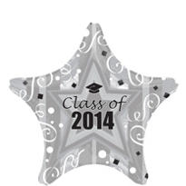 Silver Class of 2013 Star Graduation Balloon 19in