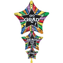 Foil Star Stacker Graduation Balloon 42in