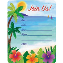 Summer Scene Value Pack Invitations 50ct