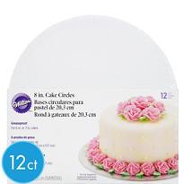 White Cake Boards 12ct