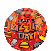 Foil Have a Sizzlin' Day Balloon 18in