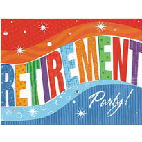 Jumbo Retirement Invitations 8ct