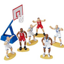 Basketball Cake Topper Set 7ct