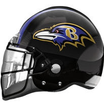 Baltimore Ravens Helmet Foil Balloon 26in