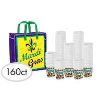 Mardi Gras Throw Cups 160ct