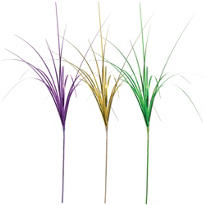 Mardi Gras Onion Grass Foil 21in 3ct