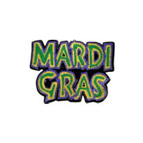 3D Glitter Mardi Gras Wall Decoration 28in