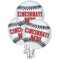 Cincinnati Reds Balloons 18in 3ct