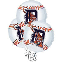 Detroit Tigers Balloons 18in 3ct