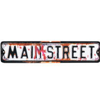 Main Street Sign 6 1/8in x 29in
