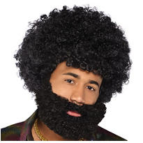 Black Afro Beard