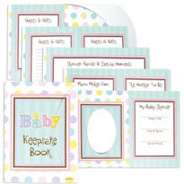 Tiny Bundle Baby Shower Keepsake Book