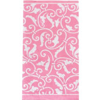 Pink Ornamental Scroll Guest Towels 16ct