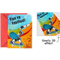 Born To Skate Large Invitations 8ct