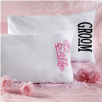Bride & Groom Pillow Case Set 2ct