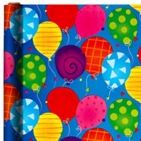 Jumbo Bright Balloon Gift Wrap