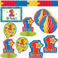 One-Derful Boy 1st Birthday Decorating Kit 10pc