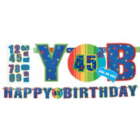 A Year to Celebrate Personalized Letter Banner 7 1/2ft