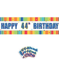 A Year to Celebrate Personalized Happy Birthday Banner 5 1/2ft
