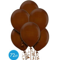 Chocolate Brown Latex Ballons 12in 72ct